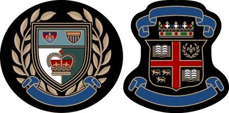 classic college emblem badge Stock Vector - 9812686