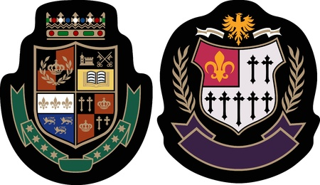 classic college emblem badge Stock Vector - 9812681