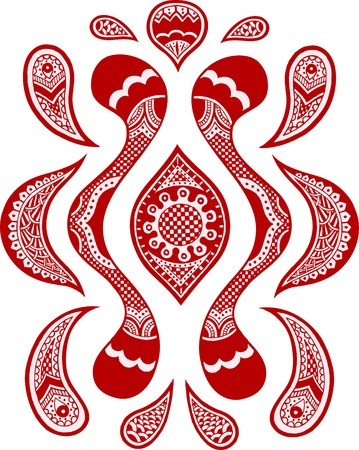 indian style fashion paisley Vector