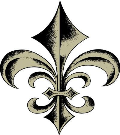 french renaissance: dise�o de Fleur de lys Vectores