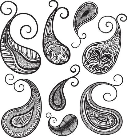 mehndi: paisley illustration Illustration