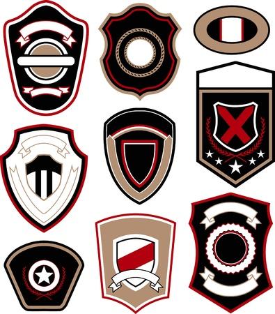 emblem badge symbol design Vektoros illusztráció