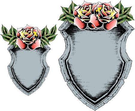 classic emblem shield Vector
