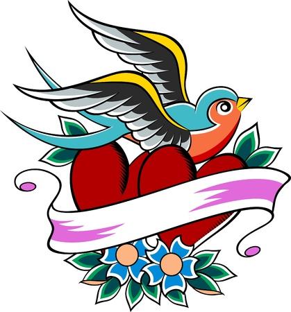 hope: swallow emblem design Illustration
