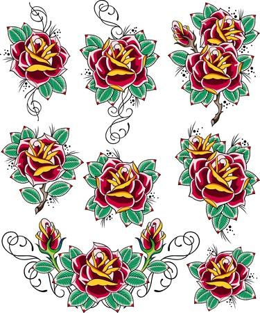 red rose border: rose tattoo