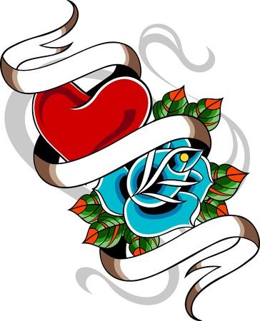 tatouage art: tatouage mill�sime classique Illustration