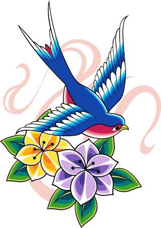 lily symbols: classic vintage tattoo
