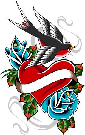 abstract tattoo: classic vintage tattoo