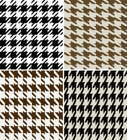gingham: seamless houndstooth pattern