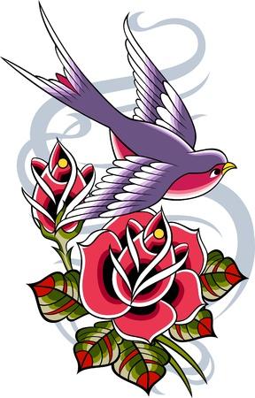 golondrinas: tatuaje vintage cl�sico