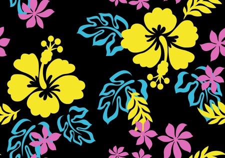 seamless hibiscus flower pattern