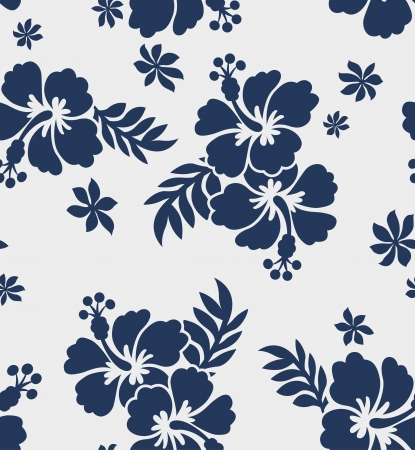 hawaii islands: seamless hibiscus flower pattern