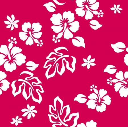 patrón de flor de Jamaica transparente