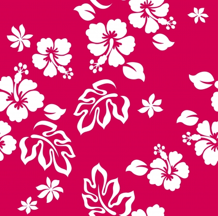 hawaiian: seamless hibiscus flower pattern