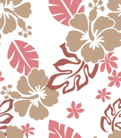 tileable: seamless hibiscus flower pattern