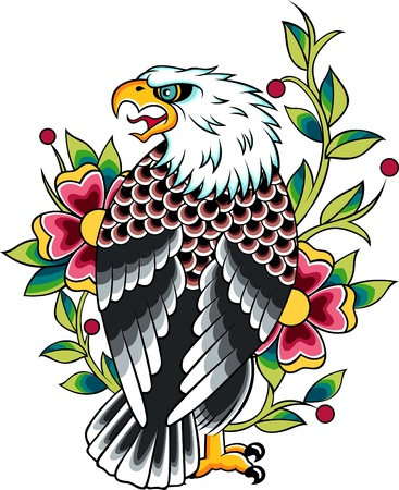 american revolution: eagle tattoo