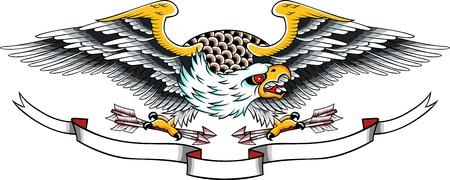 aguilas: tatuaje de águila  Vectores