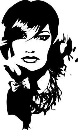 sensuality: woman illustration