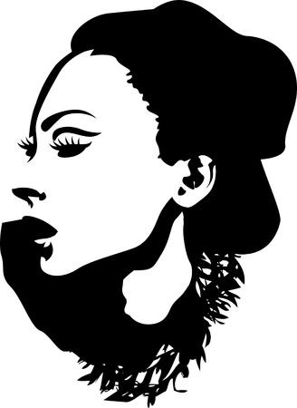 Mujer ilustración Foto de archivo - 10700650