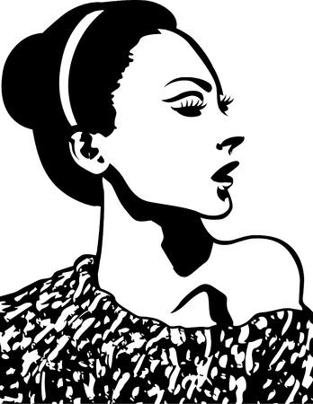 Ilustración de la mujer Foto de archivo - 10700651
