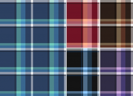 gingham: check fabric textile pattern Illustration