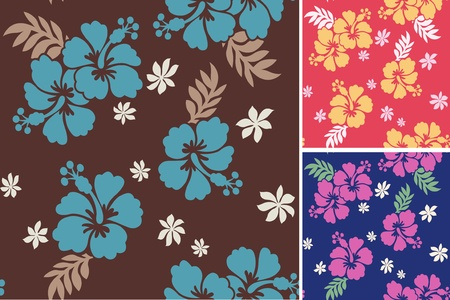 hawaii flower: seamless flower fabric pattern