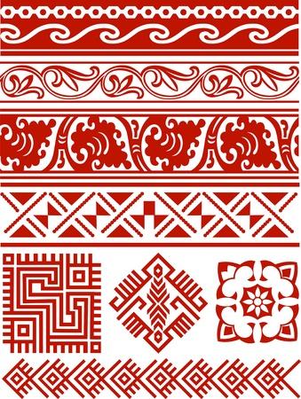 grecas: diseño de frontera abstracto Vectores