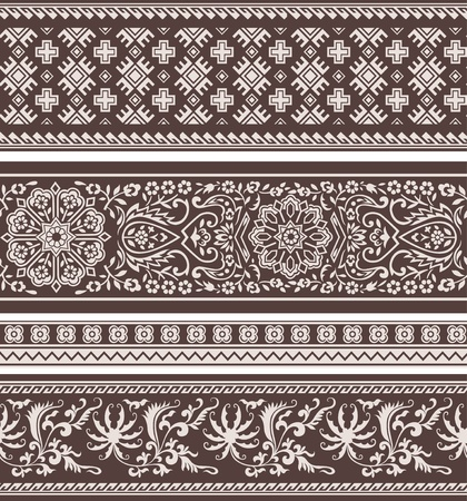 abstract floral classic pattern Vector