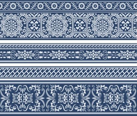 adornment: astratto disegno floreale classico Vettoriali
