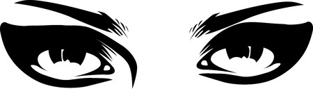 sensual: vintage makeup eyes closeup Illustration