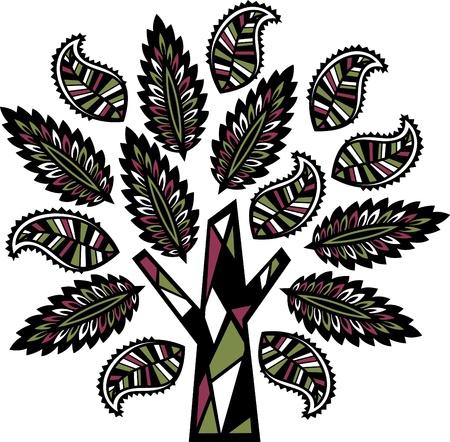 leafage: tree illustration