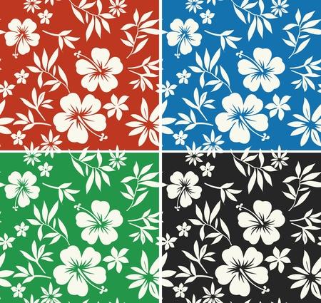 hawaiana: hibisco verano de surf patrón que se repite Vectores