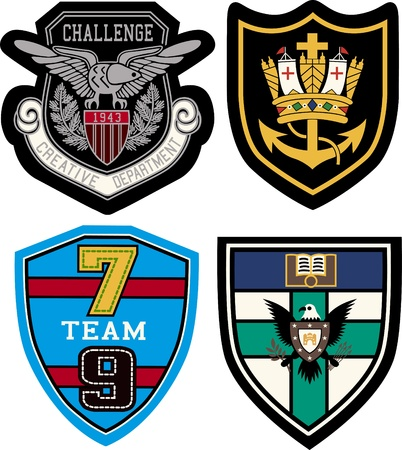 college badge design Vector