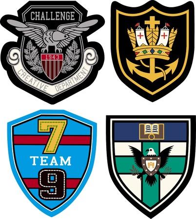 shield emblem: collegio distintivo di design