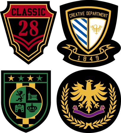 academy: badge design set Illustration