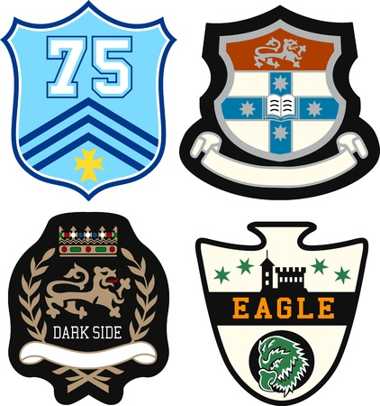 king crown laurel icon round: heraldic royal emblem badge Illustration