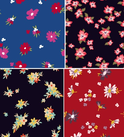 seamless floral pattern design Vector