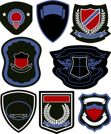 badge ribbon: emblem badge shield design