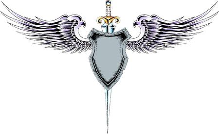 classic royal shielding Vector