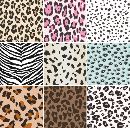 seamless animal skin swatch Vector