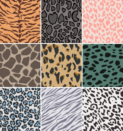 seamless fabric animal skin pattern Vector