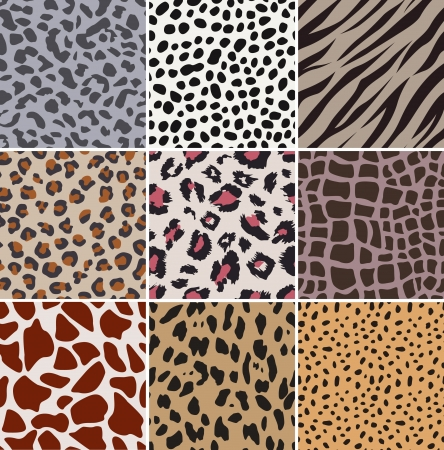 repeat structure: seamless fabric animal skin pattern Illustration