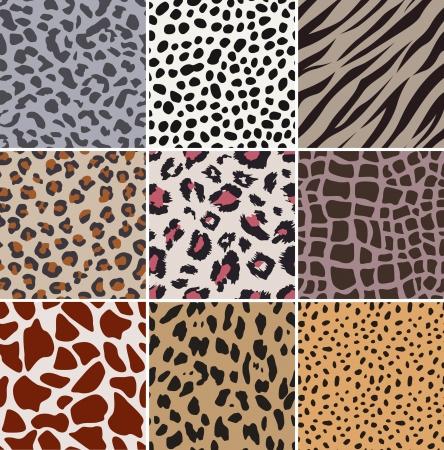 human skin texture: senza soluzione di continuit� in tessuto motivo a pelle di animale Vettoriali