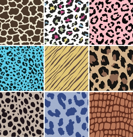 seamless animal skin pattern Vector
