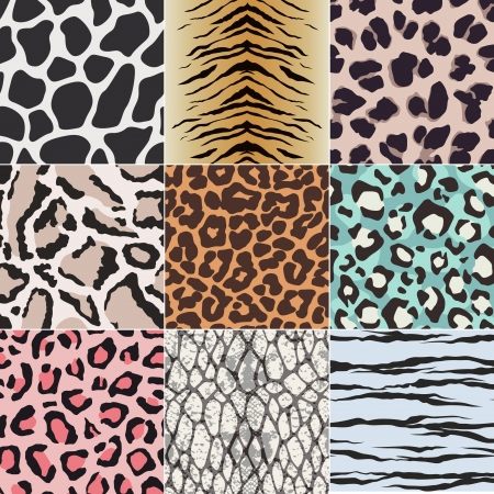huella animal: piel perfecta textura de la tela patr�n de los animales Vectores