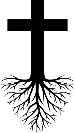 christian symbol: deep rooted church  Illustration