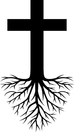 racines: profond�ment enracin�e �glise Illustration