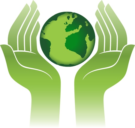 Planet Earth In Hands  Vector
