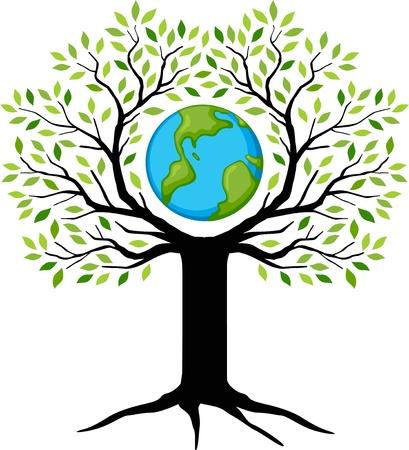 eco amigables con el planeta verde árbol