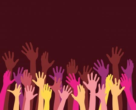 manos levantadas: el aumento de las manos